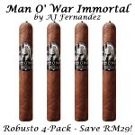 Man O' War Immortal Robusto by AJ Fernandez 4-Pack