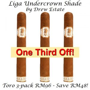 Liga Undercrown Shade Gran Toro 3-Pack One Third Off