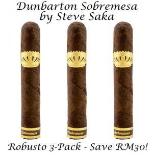 Dunbarton Sobremesa By Steve Saka Robusto 3-Pack