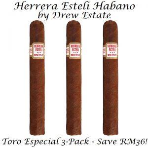 Herrera Esteli Habano Toro Especial 3-Pack