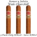 Romeo y Julieta Wide Churchill 3-Pack