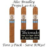 Alec Bradley Project 40 06.52 Toro 3-Pack CA